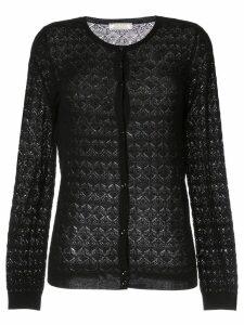 Nina Ricci patterned cardigan - Black
