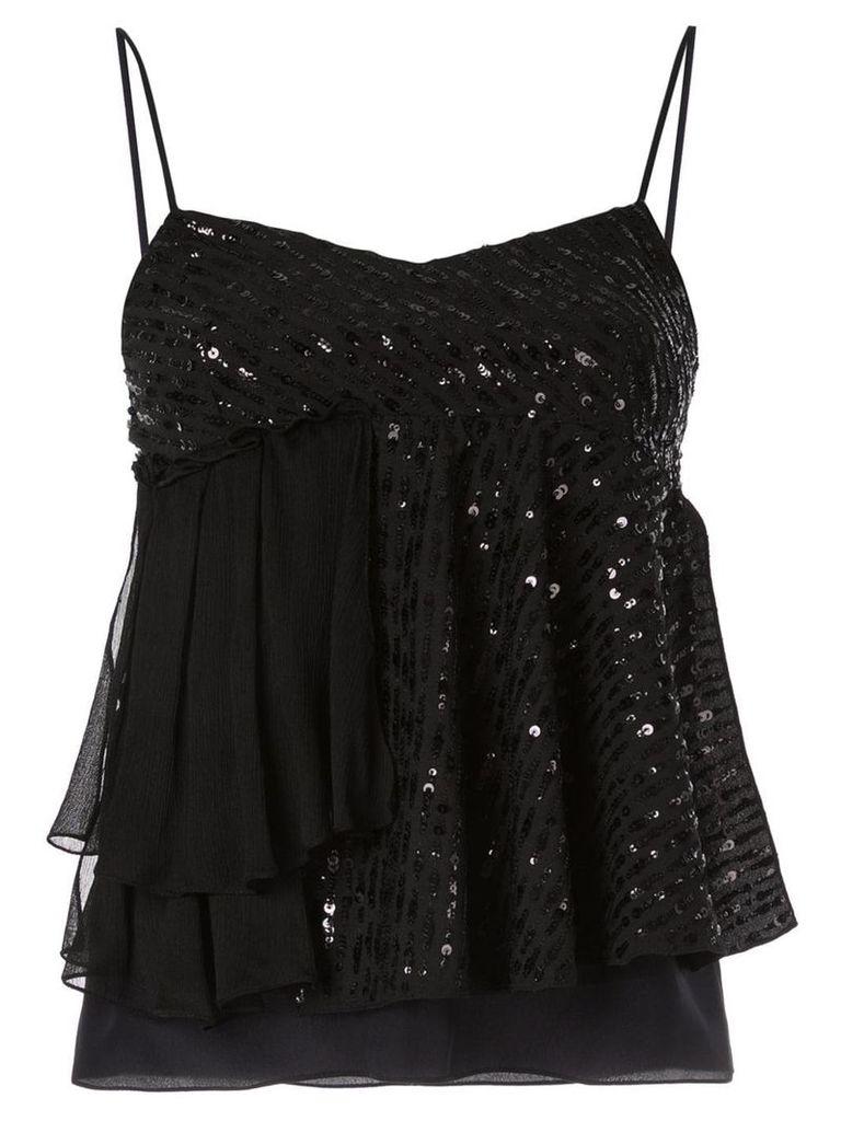 Nina Ricci sequined camisole top - Black