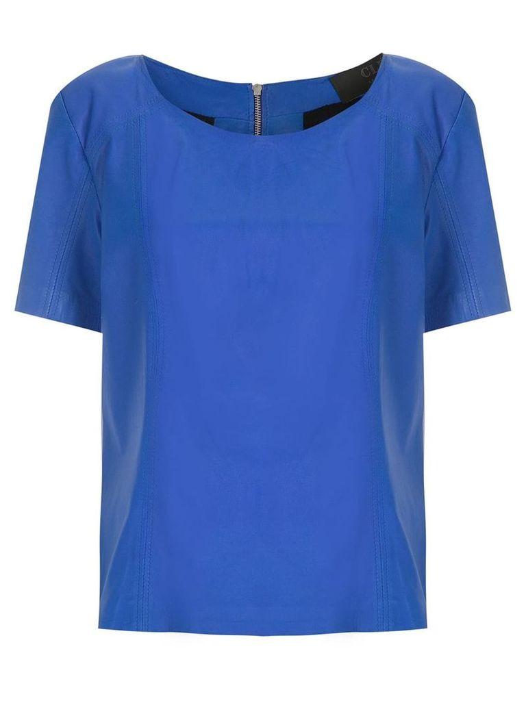 Clé Eliot leather top - Blue