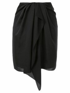 Nina Ricci draped front skirt - Black