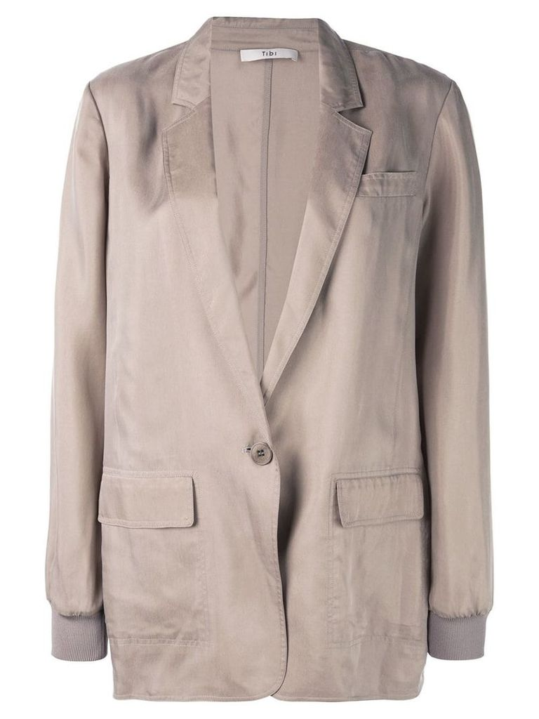 Tibi soft tailored blazer - Brown