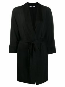Agnona wrap midi dress - Black
