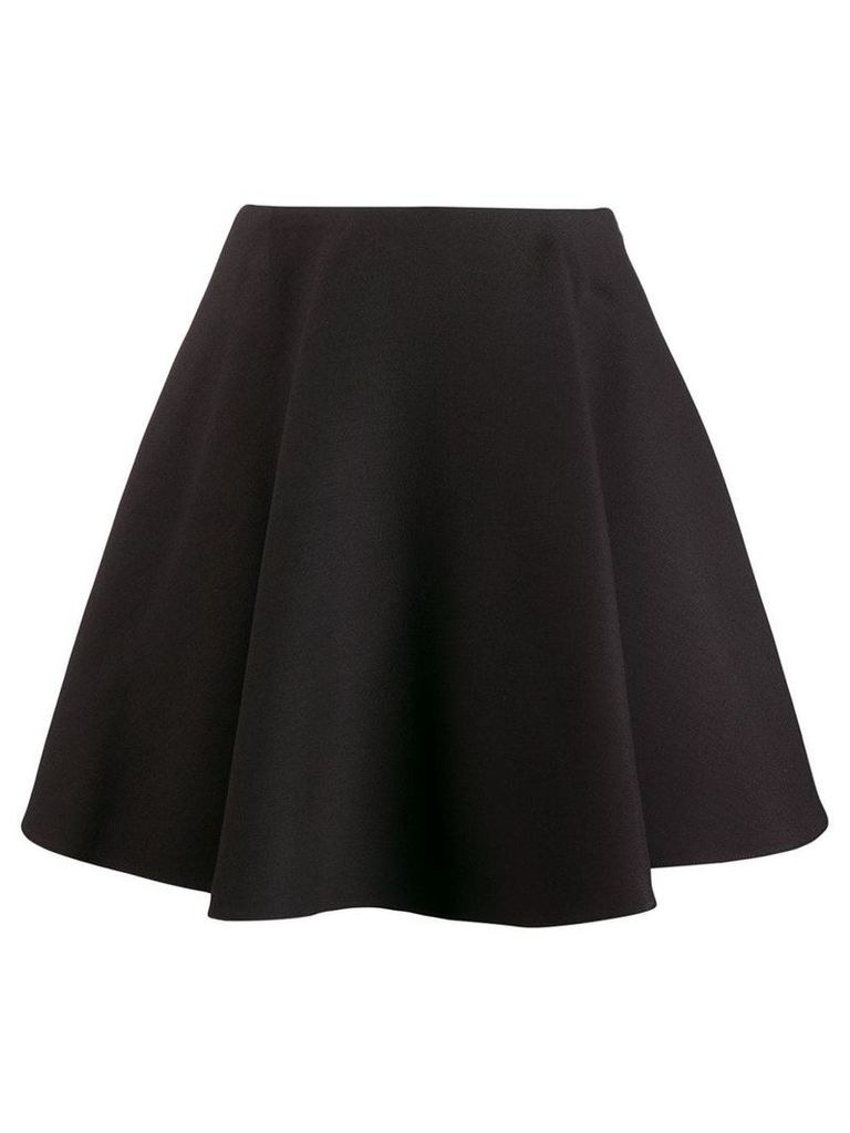Valentino flounced crepe skirt - Black