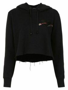 Andrea Bogosian cropped hoodie - Black