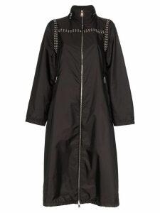 Moncler eyelet detail rain jacket - Black