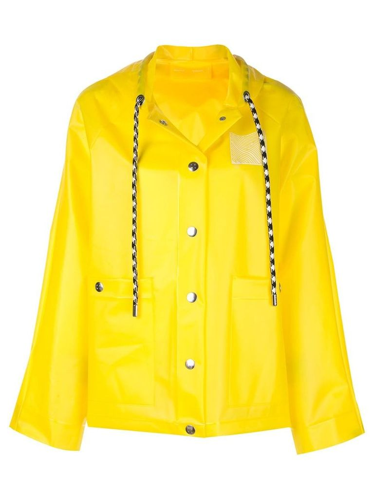 Proenza Schouler short printed raincoat - Yellow