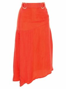 Suboo asymmetric hem skirt - Orange