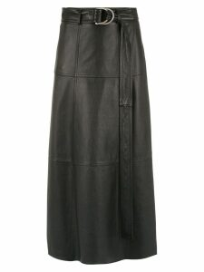 Gloria Coelho midi leather skirt - Black