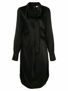 Nina Ricci scarf neck dress - Black