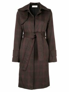 Nina Ricci check tie-waist coat - Multicolour