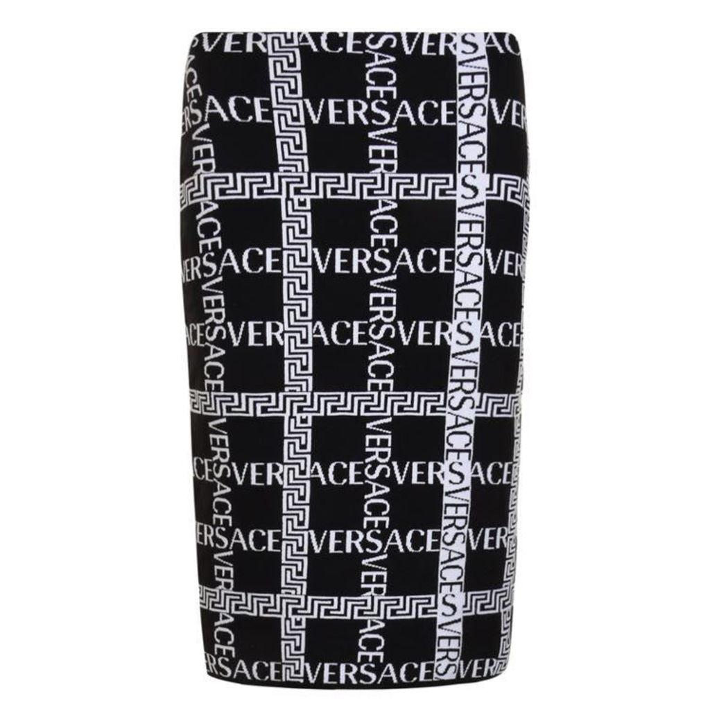 VERSACE Cross Logo Skirt