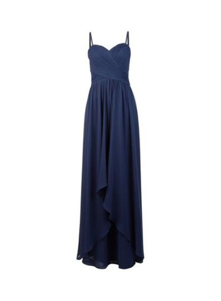 Womens **Showcase Tall Navy Bobby Maxi Dress- Blue, Blue