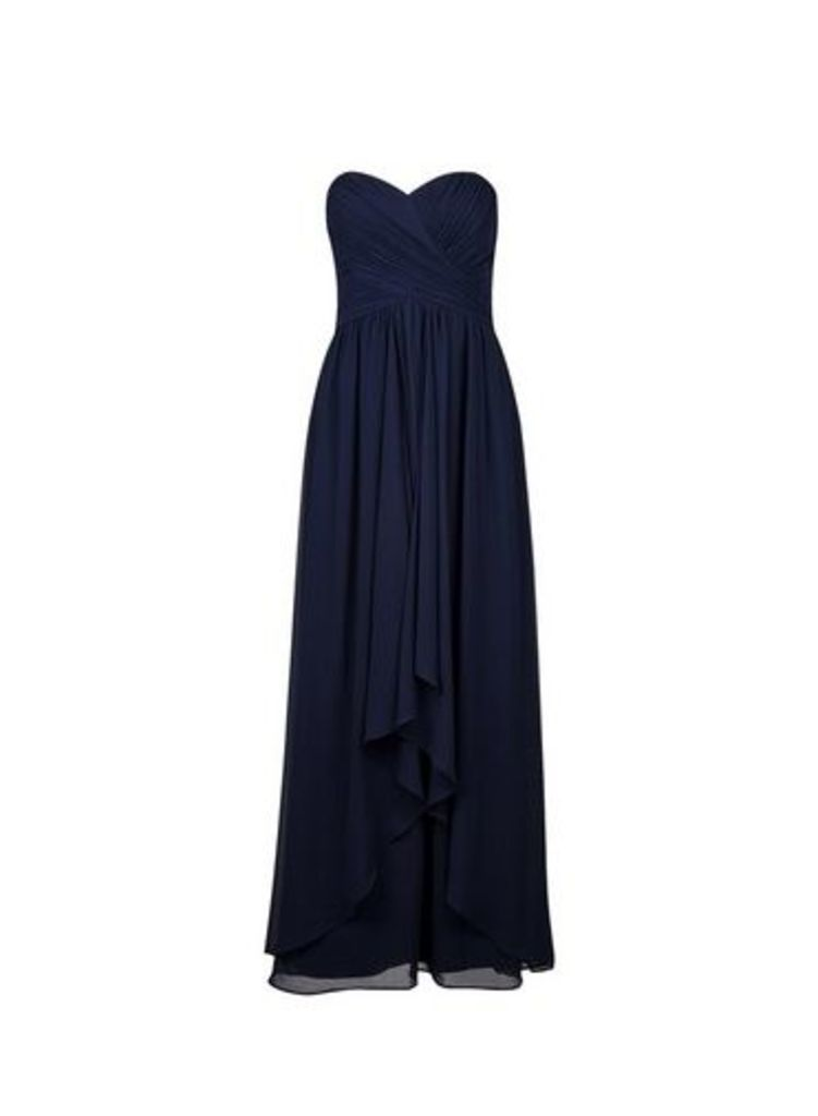 Womens **Showcase Navy 'Bobby' Waterfall Maxi Dress- Blue, Blue