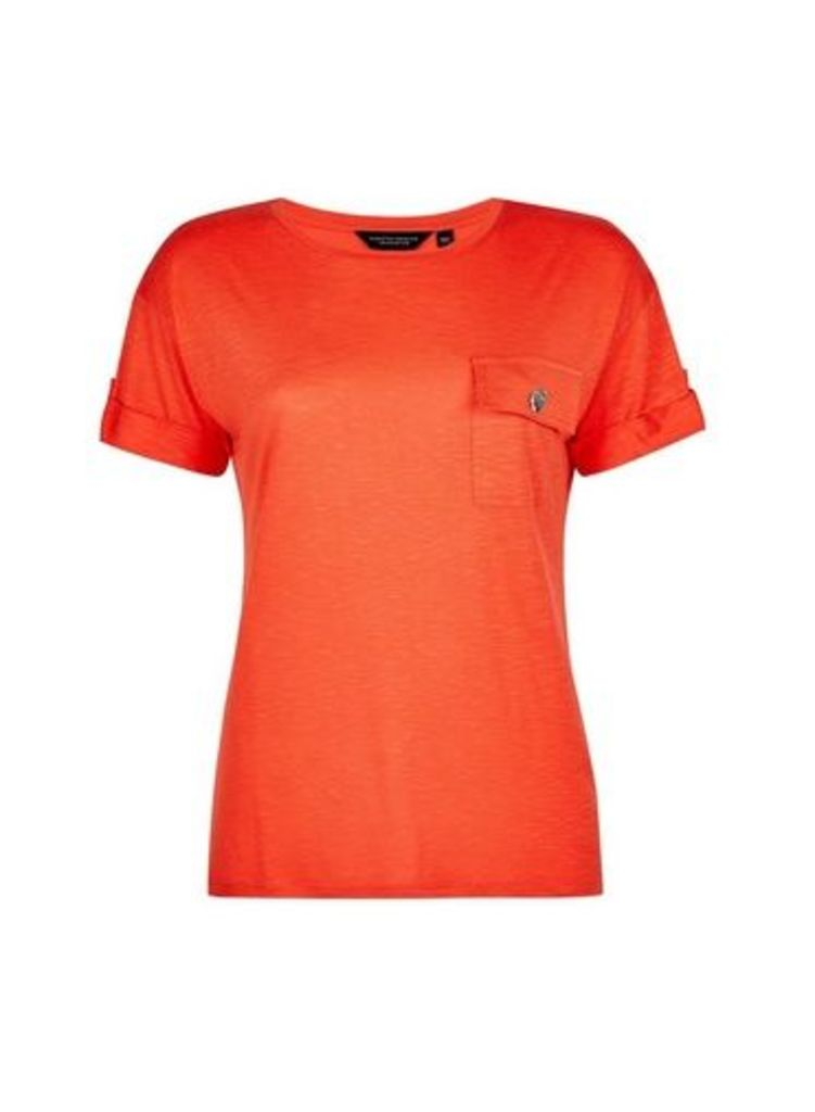 Womens Coral Utility T-Shirt- Coral, Coral