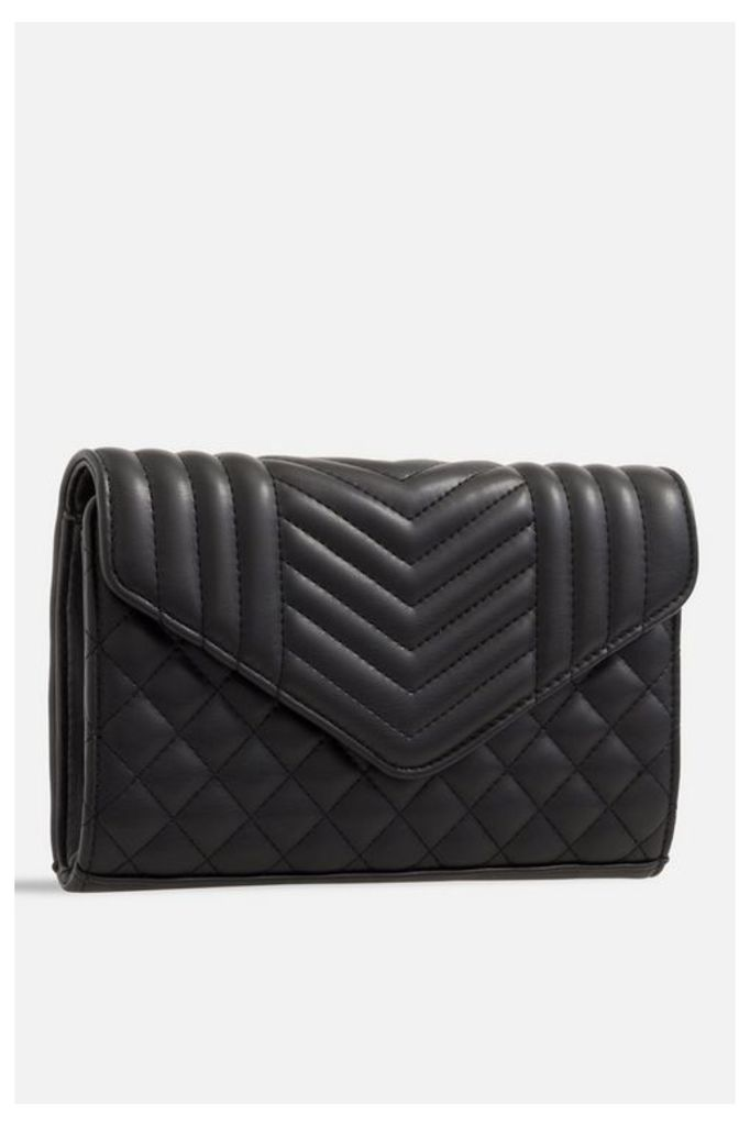 Womens **Quilted Soft Faux Leather Bag By Koko Couture - Black, Black