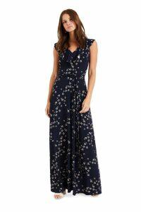 Womens Phase Eight Blue Destiny Print Maxi Dress -  Blue