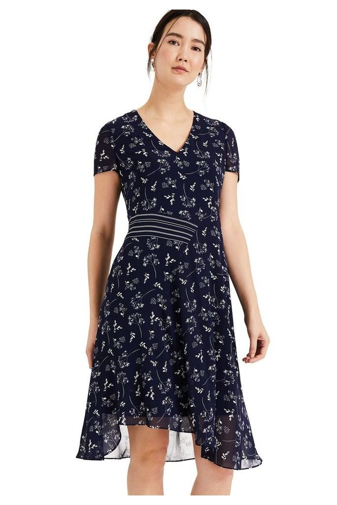 Womens Phase Eight Blue Emmerline Print Dress -  Blue