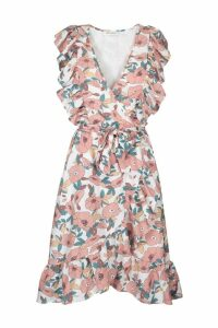 Womens Sofie Schnoor Pink Retro Floral Wrap Dress -  Pink