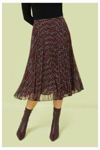 Womens Finery London Black Amara Abstract Small Scale Print Skirt -  Black