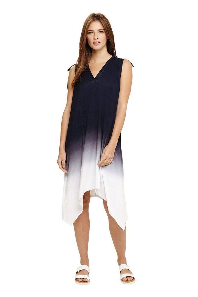 Womens Phase Eight Blue Oska Ombre Beach Dress -  Blue