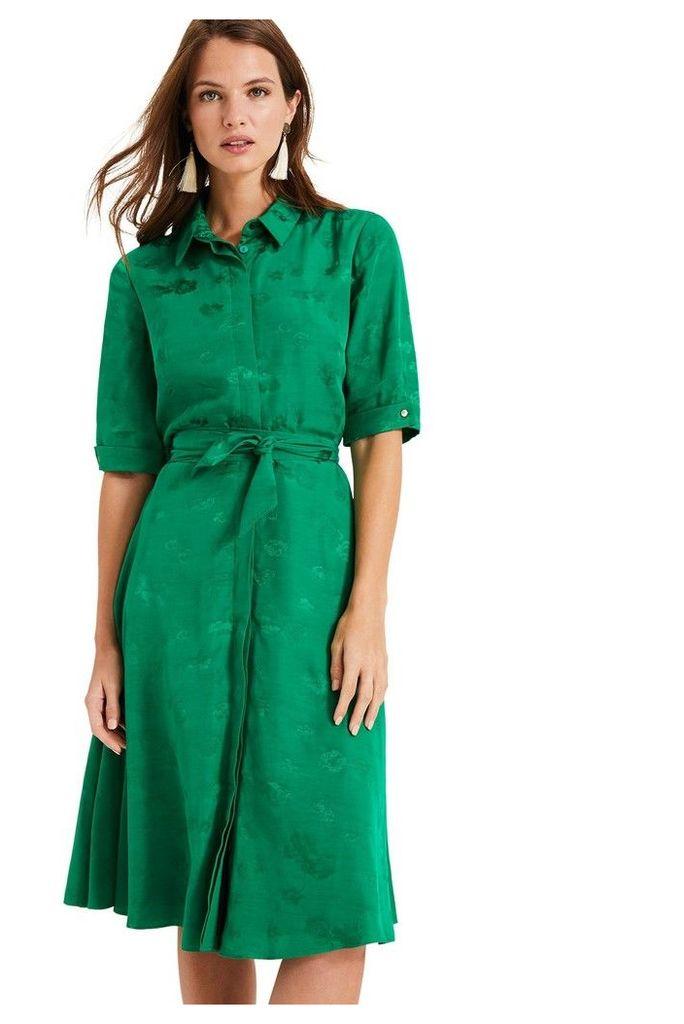 Womens Phase Eight Green Keris Shirt Dress -  Green
