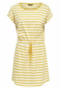 Womens Only Stripe Print Jersey Dress -  Yellow