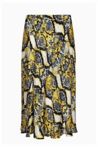 Womens Ghost London Animal Laila Snakeskin Satin Skirt -  Animal