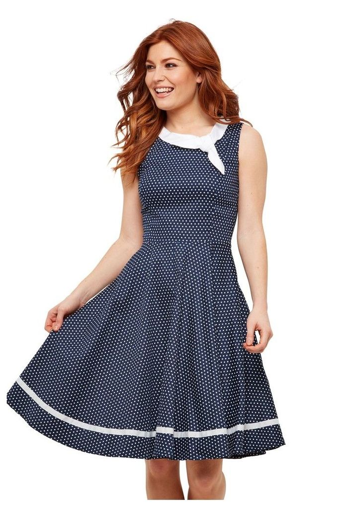 Womens Joe Browns Vintage Dancer Dress -  Blue