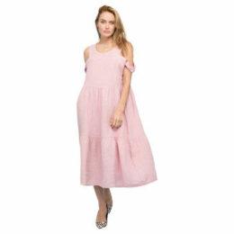 Rodier  Sleeveless linen dress  women's Long Dress in Pink