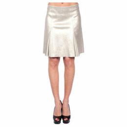 John   Yoko  Stretch skirt in lambskin  women's Skirt in Gold