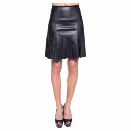 John   Yoko  Stretch skirt in lambskin  women's Skirt in Black