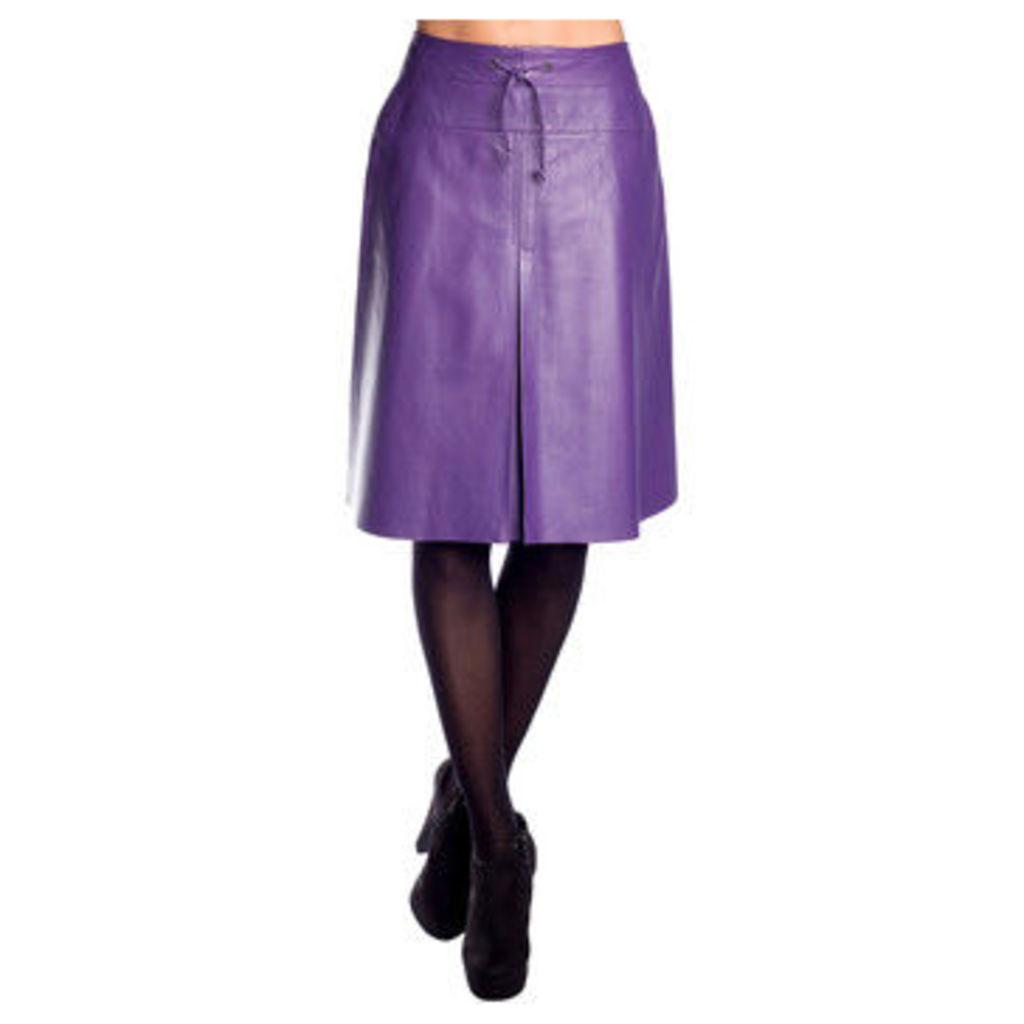 John   Yoko  Lamb leather skirt  women's Skirt in Purple