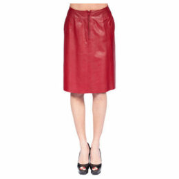 John   Yoko  Lamb leather skirt  women's Skirt in Red