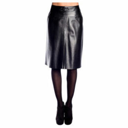 John   Yoko  Lamb leather skirt  women's Skirt in Black