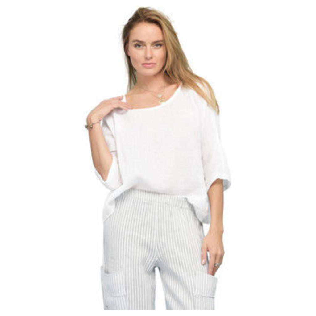 Rodier  3/4 sleeve blouse in linen  women's Blouse in White
