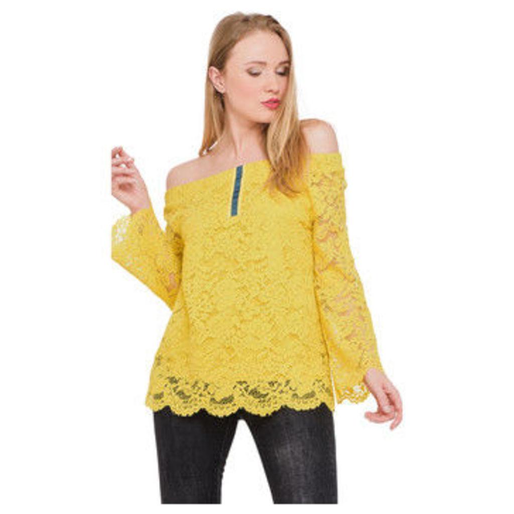 Ben Nino  Long sleeve lace blouse  women's Blouse in Yellow