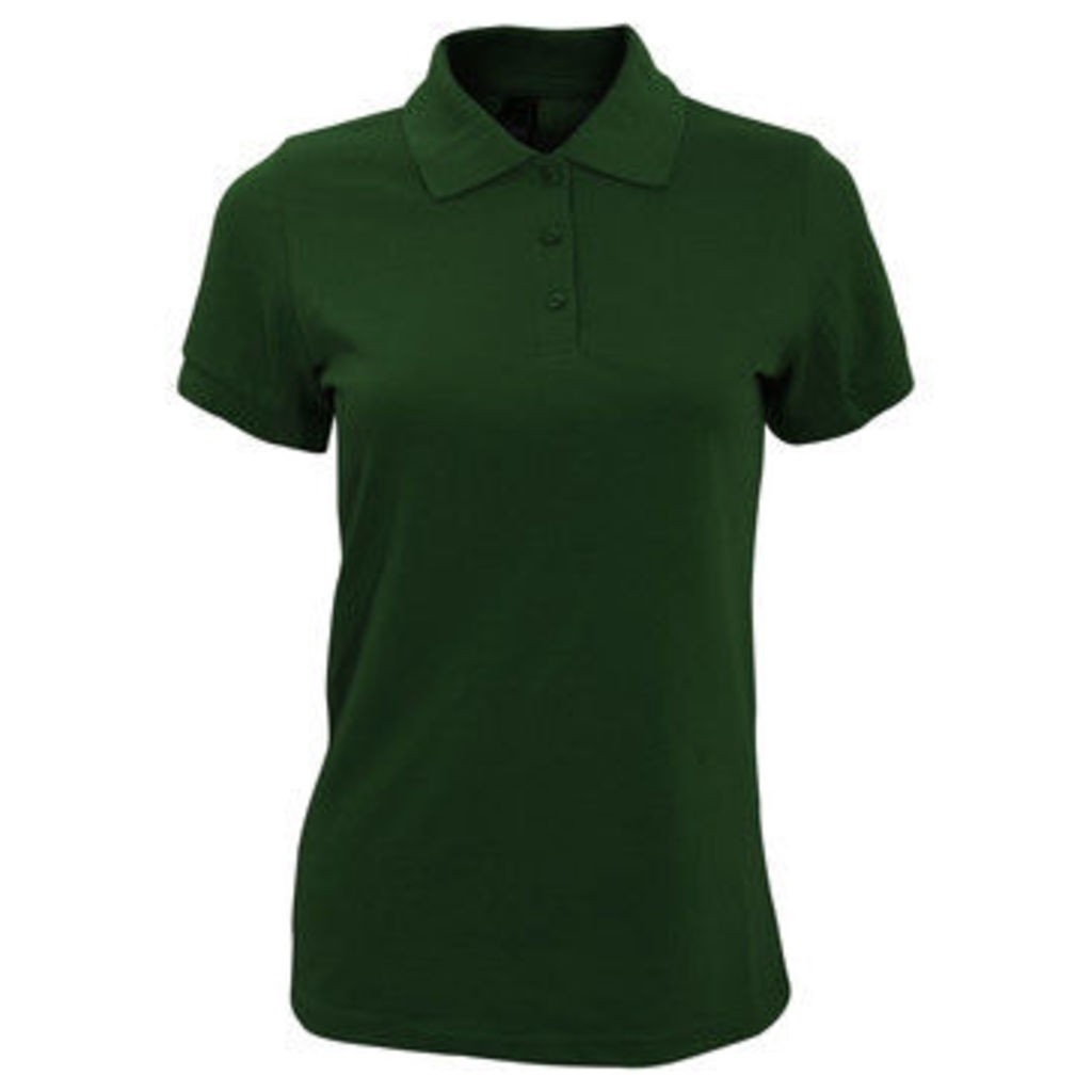 Sols  WomensLadies Prime Pique Polo Shirt  women's Polo shirt in Green