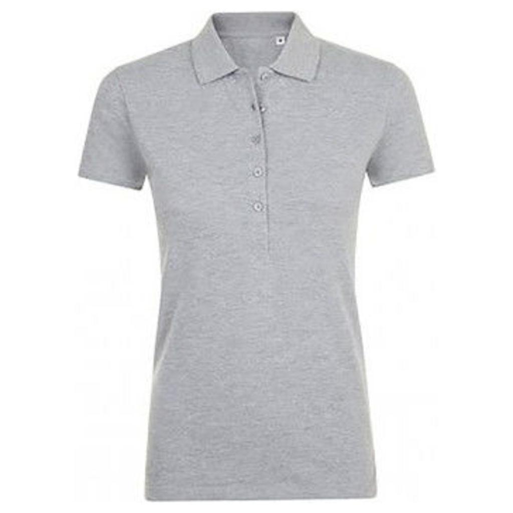 Sols  WomensLadies Phoenix Short Sleeve Pique Polo Shirt  women's Polo shirt in Grey