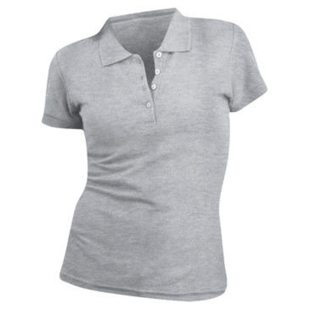 Sols  WomensLadies People Pique Short Sleeve Cotton Polo Shirt  women's Polo shirt in Grey