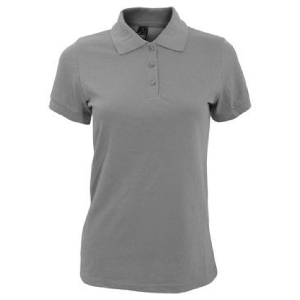 Sols  WomensLadies Prime Pique Polo Shirt  women's Polo shirt in Grey