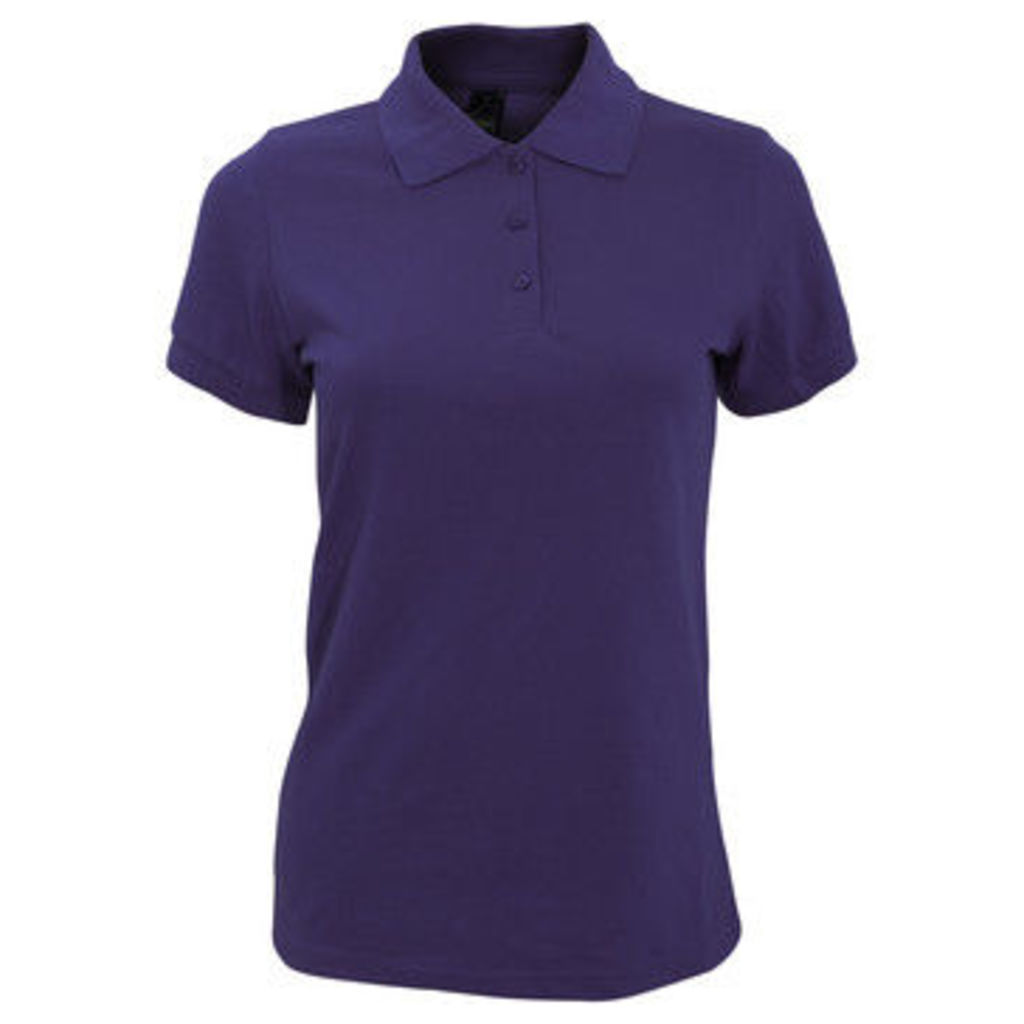 Sols  WomensLadies Prime Pique Polo Shirt  women's Polo shirt in Purple