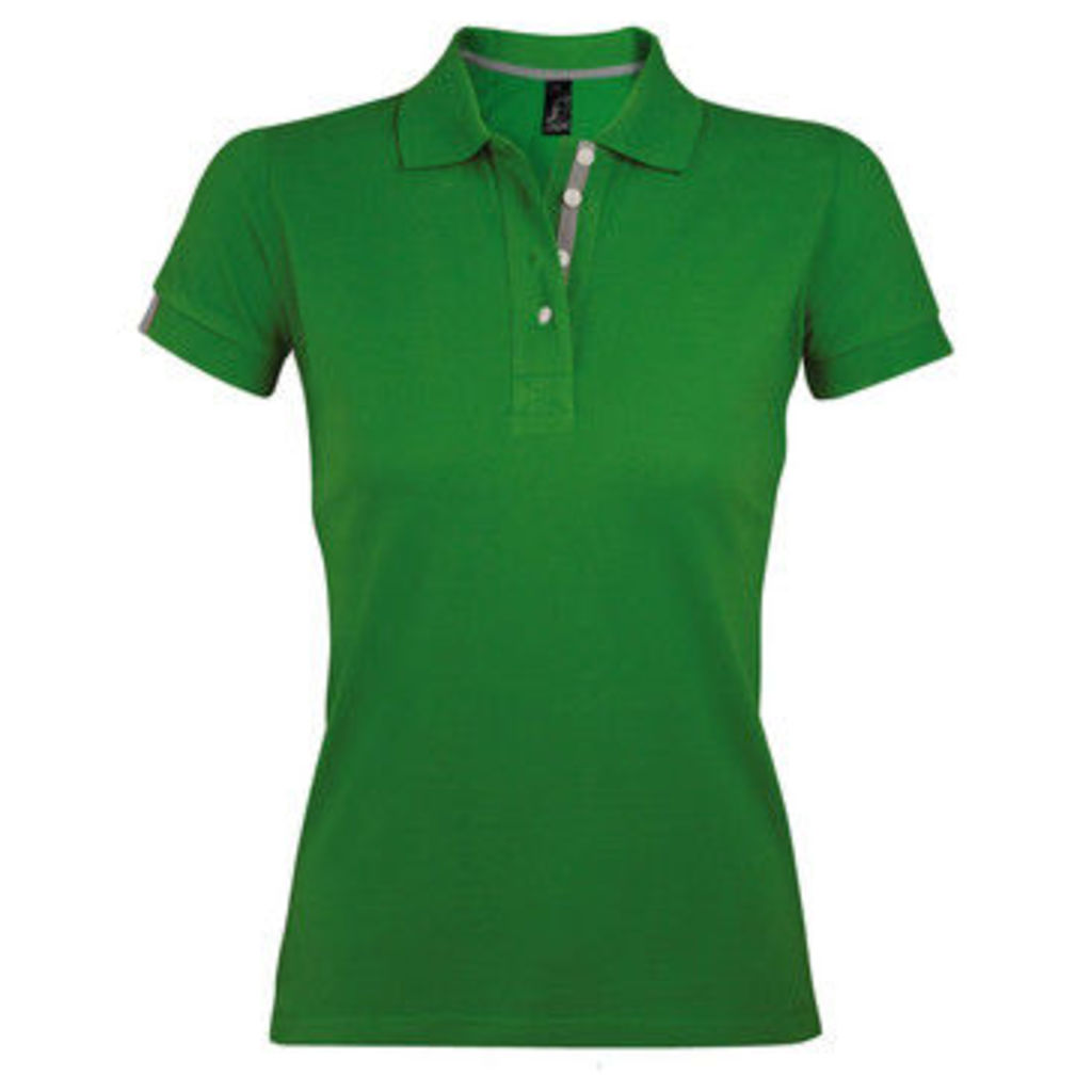 Sols  WomensLadies Portland Short Sleeve Pique Polo Shirt  women's Polo shirt in Green