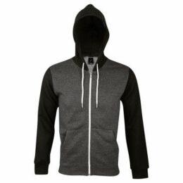 Sols  Silver Unisex Full Zip Hooded Sweatshirt  Hoodie  women's Sweatshirt in Grey