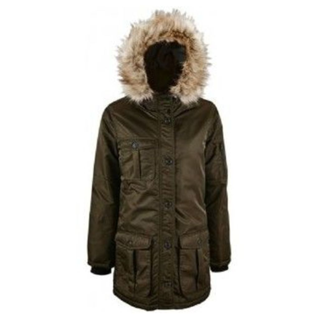 Sols  WomensLadies Ryan Parka Jacket  women's Parka in Multicolour