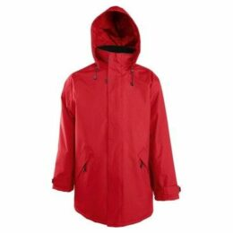 Sols  Adults Unisex River Hooded Waterproof Parka Jacket  women's Parka in Red