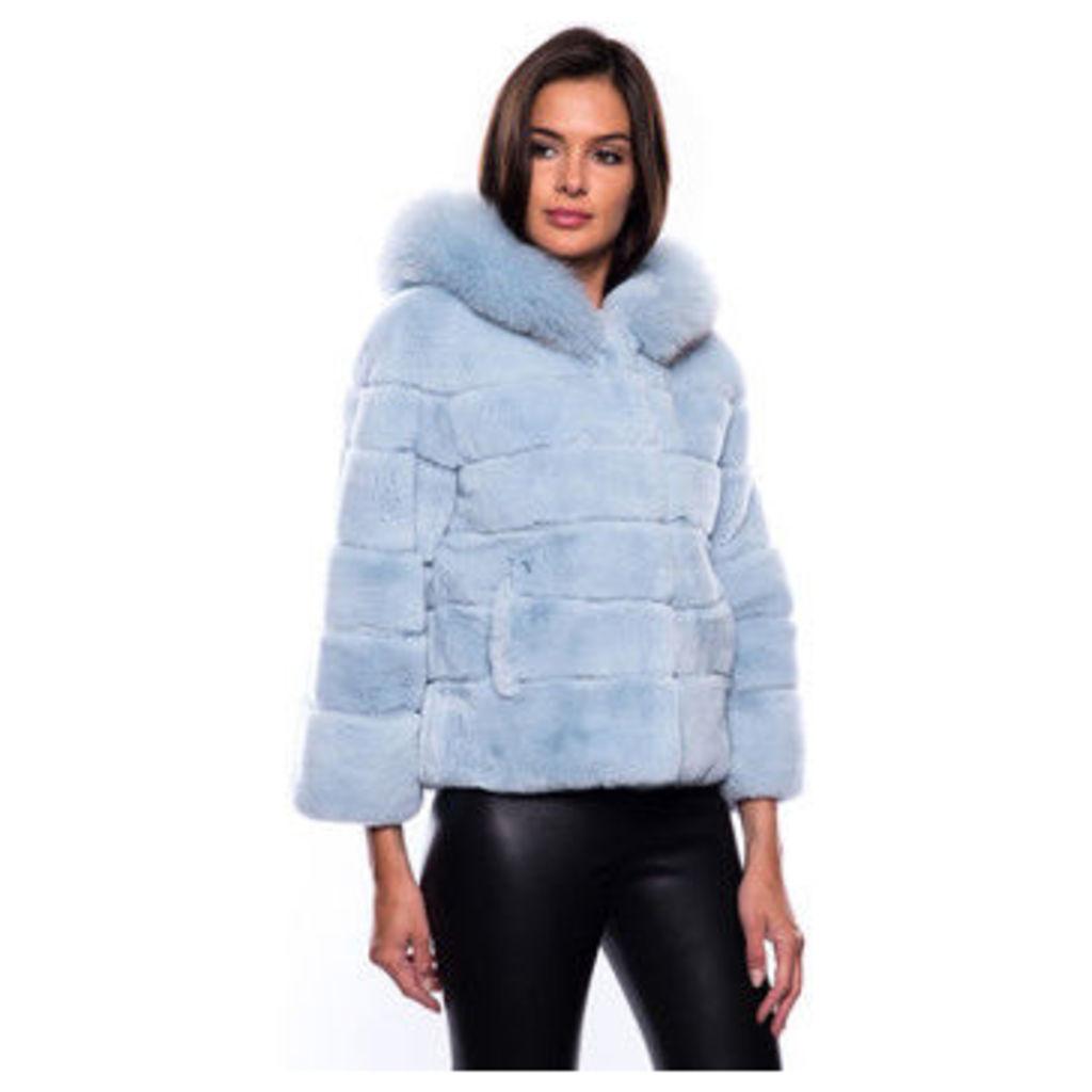 John   Yoko  Short coat in fur  women's Coat in Blue