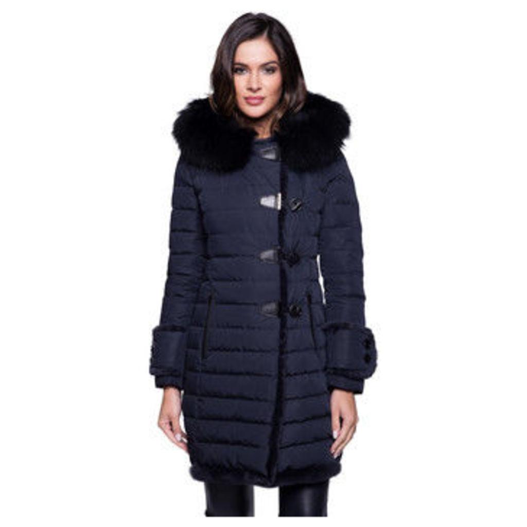 John   Yoko  Long coat  women's Coat in Blue