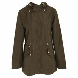 Brave Soul  WomensLadies Butterfly Design Plus Size Parka Jacket  women's Parka in Green