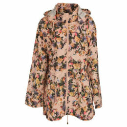 Brave Soul  WomensLadies Floral Full Zip Jacket  women's Parka in Pink