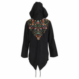 Brave Soul  WomensLadies Merri Floral Hooded Jacket  women's Parka in Blue